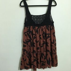 Urban outfitters leaf print top